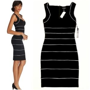 "WHBM Black Sleeveless ""Instantly Slimming"" Dress"